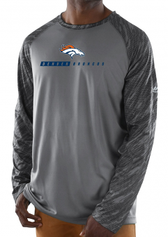 "Denver Broncos Majestic NFL ""Rivalry"" Men's Performance L/S Gray Shirt"