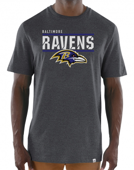 "Baltimore Ravens Majestic NFL ""Flex Team"" Men's Premium Tri-Blend T-Shirt"