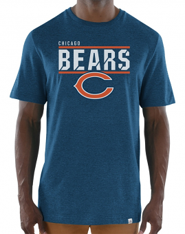 "Chicago Bears Majestic NFL ""Flex Team"" Men's Premium Tri-Blend T-Shirt"