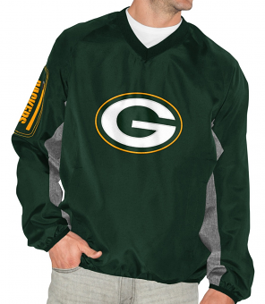 """Green Bay Packers NFL G-III """"The Gridiron"""" Men's Pullover Embroidered Jacket"""