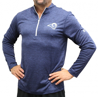 "Los Angeles Rams Majestic NFL ""Play to Win"" 1/2 Zip Mock Neck Pullover Shirt"