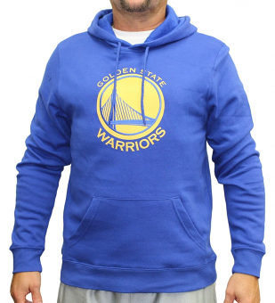 "Golden State Warriors Majestic NBA ""Current Tek Patch"" Men's Hooded Sweatshirt"
