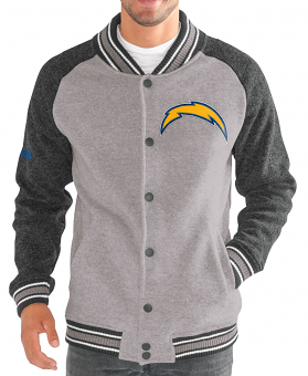 """Los Angeles Chargers G-III NFL """"The Ace"""" Men's Premium Sweater Varsity Jacket"""