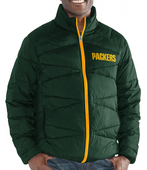 "Green Bay Packers Men's NFL G-III ""Blitz"" F/Zip Packable Quilted Jacket with Bag"