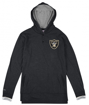 Oakland Raiders Mitchell & Ness NFL Seal The Win Long Sleeve Hooded Men's Shirt
