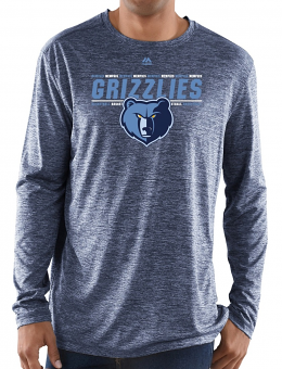 "Memphis Grizzlies Majestic NBA ""Thrill A Minute"" Men's Long Sleeve T-Shirt"