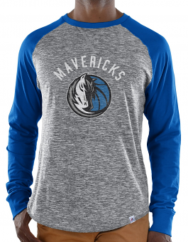 "Dallas Mavericks Majestic NBA ""Exposure"" Men's Long Sleeve Gray Slub Shirt"