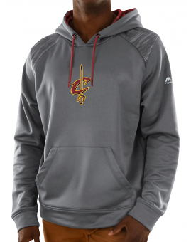 Cleveland Cavaliers Majestic NBA Armor 3 Men's Pullover Hooded Sweatshirt - Gray