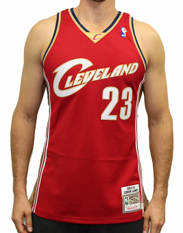 Lebron James Cleveland Cavaliers Mitchell & Ness Authentic 2003 Road NBA Jersey