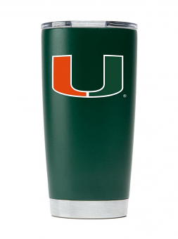 Miami Hurricanes NCAA Stainless Steel Insulated 20oz Tumbler - Green