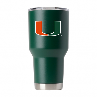 Miami Hurricanes NCAA Stainless Steel Insulated 30oz Tumbler - Green