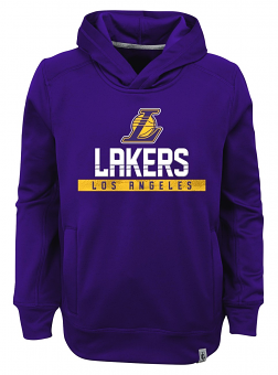 """Los Angeles Lakers Youth NBA """"Playmaker"""" Pullover Hooded Performance Sweatshirt"""