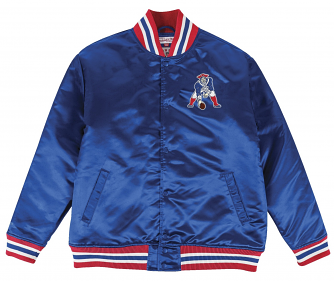 "New England Patriots Mitchell & Ness NFL ""History"" Premium Satin Jacket"