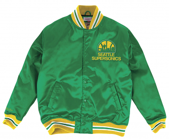 "Seattle Supersonics Mitchell & Ness NBA ""History"" Premium Satin Jacket"