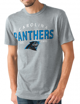 "Carolina Panthers NFL G-III ""Playoff"" Men's Dual Blend S/S T-shirt - Graphite"