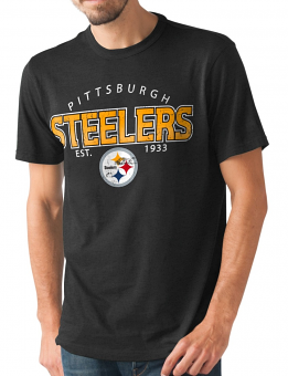 "Pittsburgh Steelers NFL G-III ""Playoff"" Men's Dual Blend S/S T-shirt - Black"