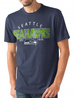 "Seattle Seahawks NFL G-III ""Playoff"" Men's Dual Blend S/S T-shirt - Navy"