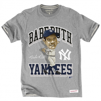 Babe Ruth New York Yankees MLB Mitchell & Ness Caricature Men's T-Shirt