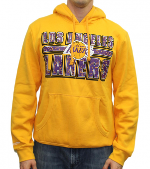 "Los Angeles Lakers Mitchell & Ness NBA ""Fast Break"" Pullover Hooded Sweatshirt"