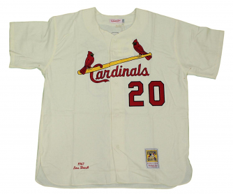 Lou Brock St. Louis Cardinals Mitchell & Ness MLB Authentic 1967 Jersey