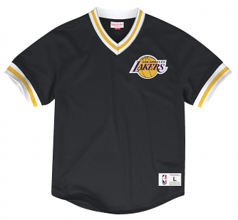 Los Angeles Lakers Mitchell & Ness NBA Men's Mesh V-neck Jersey Shirt