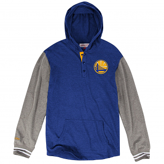 "Golden State Warriors Mitchell & Ness NBA""Mid Season"" L/S Hooded Men's Shirt"