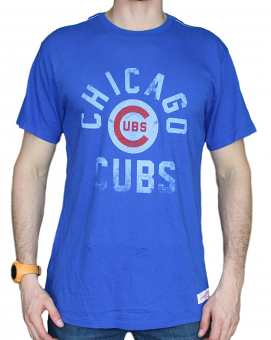 "Chicago Cubs MLB Mitchell & Ness ""Bases Loaded"" Vintage Premium Men's T-Shirt"