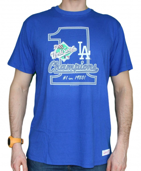 Los Angeles Dodgers MLB Mitchell & Ness 1988 World Series Premium Men's T-Shirt