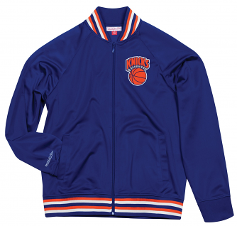 "New York Knicks Mitchell & Ness NBA Men's ""Top Prospect"" Full Zip Track Jacket"