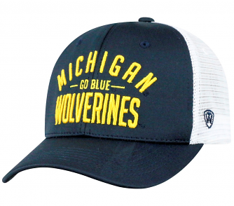 """Michigan Wolverines NCAA Top of the World """"Trainer"""" Adjustable Mesh Back Hat"""