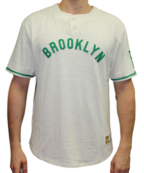 "Brooklyn Dodgers Mitchell & Ness MLB ""The Victory"" Short Sleeve Henley Shirt"