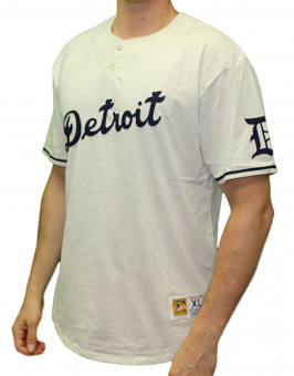 "Detroit Tigers Mitchell & Ness MLB ""The Victory"" Short Sleeve Henley Shirt"