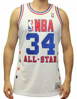 Hakeem Olajuwon Rockets Mitchell & Ness NBA 1989 All Star West Swingman Jersey
