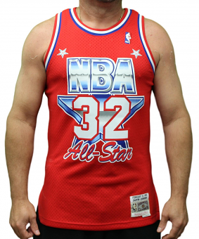 Magic Johnson Lakers Mitchell & Ness NBA 1991 All Star West Swingman Jersey