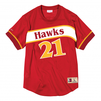 Dominique Wilkins Atlanta Hawks Mitchell & Ness NBA Men's Mesh Jersey Shirt