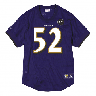 "Ray Lewis Baltimore Ravens Mitchell & Ness NFL Men's ""Mesh"" Player Shirt"