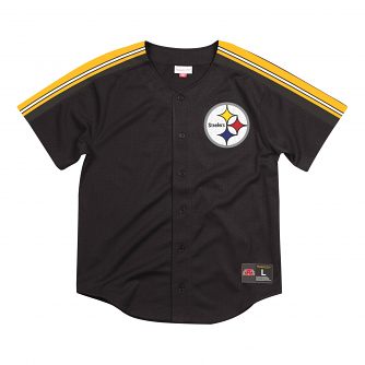 "Pittsburgh Steelers Mitchell & Ness ""Winning Team"" Men's Button Up Jersey Shirt"