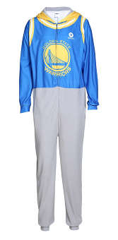 "Golden State Warriors NBA ""Warm Up"" Unisex Micro Fleece Union Suit"