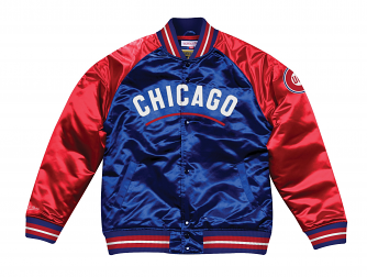 "Chicago Cubs Mitchell & Ness MLB ""Tough Season"" Premium Satin Jacket"