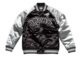 "San Antonio Spurs Mitchell & Ness NBA ""Tough Season"" Premium Satin Jacket"