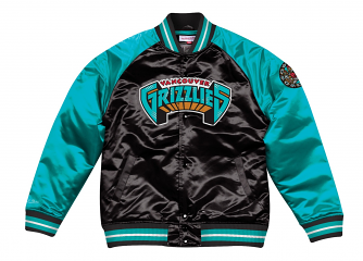 "Vancouver Grizzlies Mitchell & Ness NBA ""Tough Season"" Premium Satin Jacket"