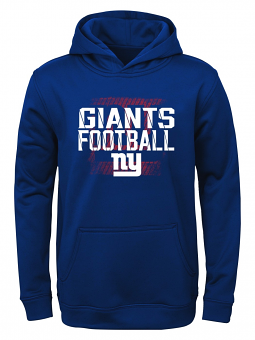 """New York Giants Youth NFL """"Attitude"""" Pullover Hooded Performance Sweatshirt"""