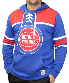 "Detroit Pistons Mitchell & Ness NBA ""Skate Lace"" Pullover Hooded Sweatshirt"