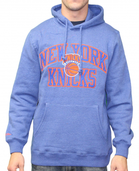 "New York Knicks Mitchell & Ness NBA ""Playoff Win"" Pullover Hooded Sweatshirt"
