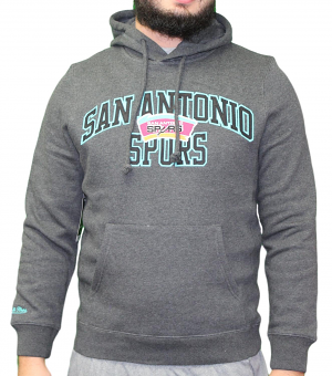 "San Antonio Spurs Mitchell & Ness NBA ""Playoff Win"" Pullover Hooded Sweatshirt"