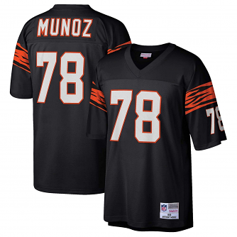 Anthony Munoz Cincinnati Bengals Mitchell & Ness Throwback Premier Black Jersey