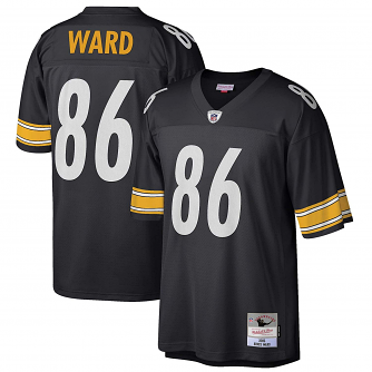 Hines Ward Pittsburgh Steelers Mitchell & Ness Throwback Premier Black Jersey