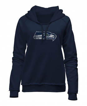 "Seattle Seahawks Women's New Era NFL ""Post Route"" Pullover Hooded Sweatshirt"