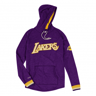 "Los Angeles Lakers Mitchell & Ness NBA ""Leader"" Lightweight Hooded Shirt"