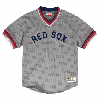 "Boston Red Sox Mitchell & Ness MLB Men's ""Dinger"" Mesh Jersey Shirt"